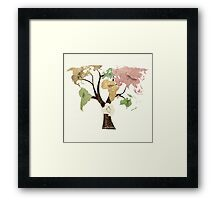Earth Tree (Birds) Framed Print