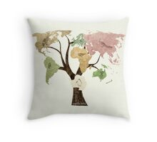 Earth Tree (Birds) Throw Pillow