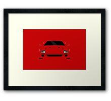 Italian supercar simplistic front end design Framed Print