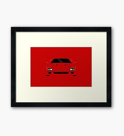 Italian supercar simplistic front end design Framed Print