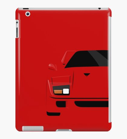 Italian supercar simplistic front end design iPad Case/Skin