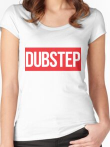 Dubstep (Red) Women's Fitted Scoop T-Shirt