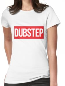 Dubstep (Red) Womens Fitted T-Shirt