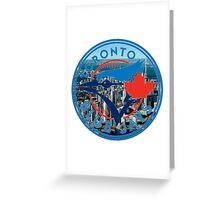 Toronto Blue Jays Skyline Logo Greeting Card