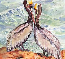 Animals, Two by Two : A pair of Pelicans by ArtPearl