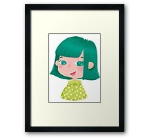 Green Girl Framed Print