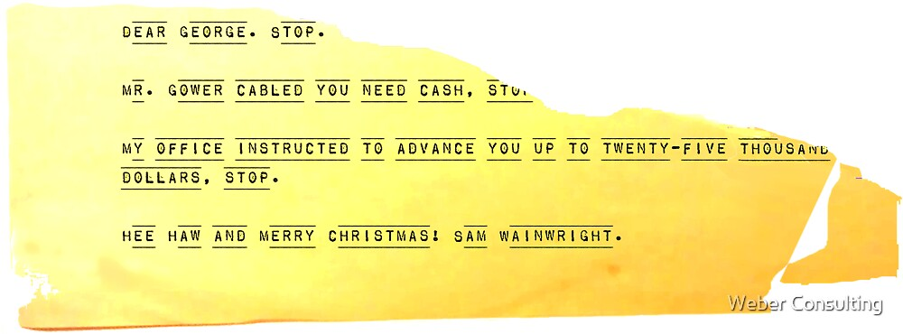 Hee Haw and Merry Christmas, Sam Wainwright by Weber Consulting