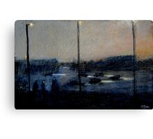 sitting by the freeway Canvas Print