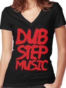 Dubstep Music Women's Fitted V-Neck T-Shirt