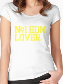 No.1 EDM (Electronic Dance Music) Lover. Women's Fitted Scoop T-Shirt