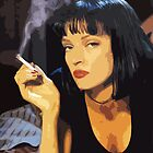 Uma Thurman from Pulp Fiction iPhone Case by Framerkat