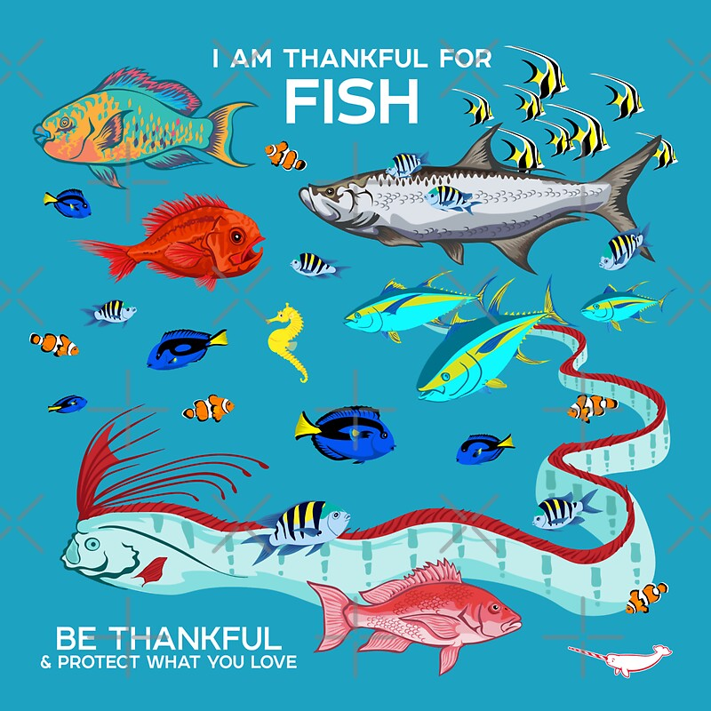 I am thankful for fish stickers by pepomintnarwhal for What kind of fish am i