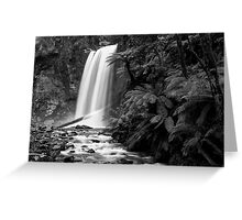 Hopetoun falls in Balck and White Greeting Card