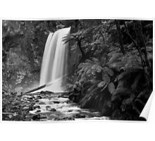 Hopetoun falls in Balck and White Poster
