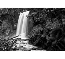 Hopetoun falls in Balck and White Photographic Print