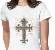 LEOPARD CROSS FOR WOMAN :D or MEN :D  Womens Fitted T-Shirt