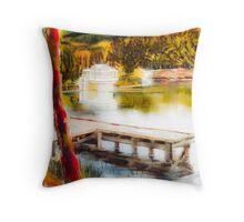 Shepherd Mountain Lake Dreamy Throw Pillow