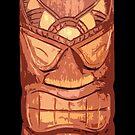 Carved Wooden Tiki iPhone Case  by Framerkat
