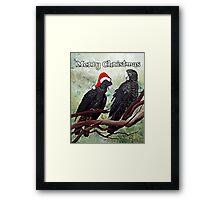 'COCKY CHRISTMAS' Framed Print