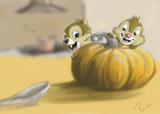 Autumn with Chip and Dale by Bantha