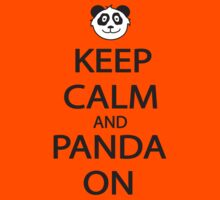 Keep Calm and Panda On Baseball Shirt by FearTheBeard