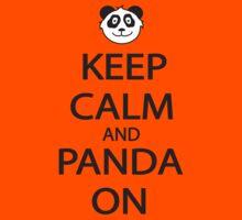 Keep Calm and Panda On Baseball Shirt by FearTheBeard