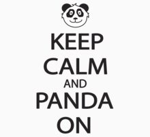 Keep Calm and Panda On Baseball Shirt One Piece - Short Sleeve