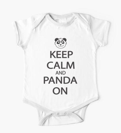 Keep Calm and Panda On Baseball Shirt One Piece - Short Sleeve