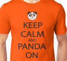Keep Calm and Panda On Baseball Shirt Unisex T-Shirt