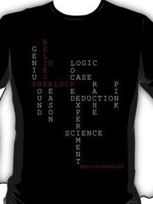 #BELIEVEINSHERLOCK WORD-PUZZLE T-Shirt