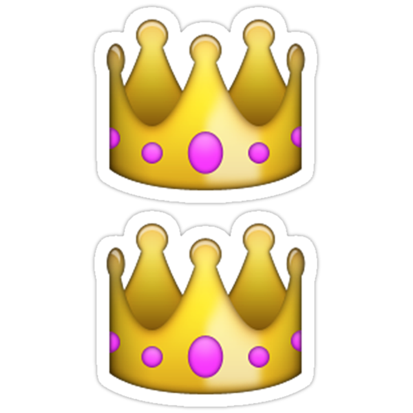 Quot Emoji Crown Quot Stickers By Emoji Redbubble