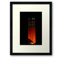 San Francisco Orange October Framed Print