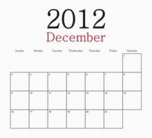 December 2012 Calendar - End of the World Baby Tee