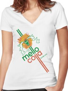 Mellow Cola Women's Fitted V-Neck T-Shirt