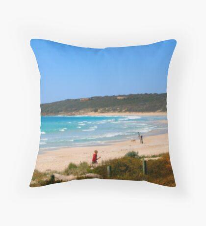 Margaret River Beach Throw Pillow