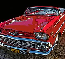 1958 Chevrolet Impala Convertible by Samuel Sheats