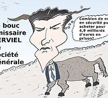Caricature de Jérôme KERVIEL le bouc émissaire by Binary-Options
