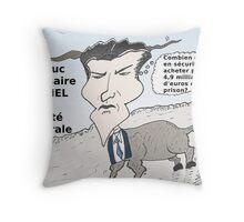 Caricature de Jérôme KERVIEL le bouc émissaire Throw Pillow