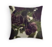 Webs among apples Throw Pillow