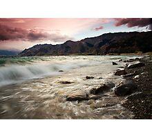 Hawea Shore Rush Photographic Print