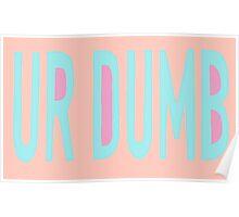 Ur Dumb Poster
