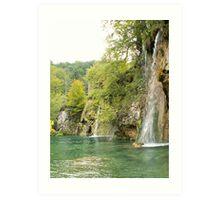Beauty of waterfall Art Print