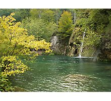 Beauty of Plitvice lake Photographic Print
