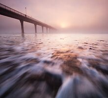 A pier in the mist by Rob Dickinson