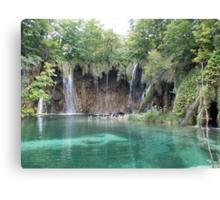 Green Plitvice lake  Canvas Print