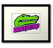 #GamerGate GamerGators Logo Framed Print
