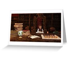 The Bookworm Greeting Card