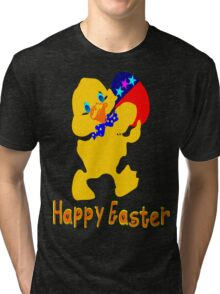 ㋡♥♫Happy Easter  Blue Eyed Chicken Clothing & Stickers♪♥㋡ Tri-blend T-Shirt