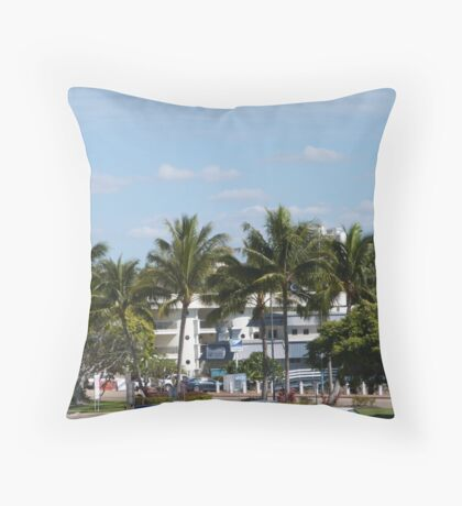 Townsville Architecture nearing the Warf.  Queensland. Throw Pillow