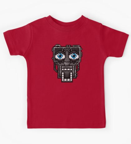 Five Nights at Freddy's 1 - Pixel art - Endoskeleton - Blue Kids Tee